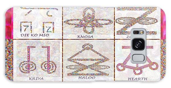 Karuna Reiki Healing Power Symbols Artwork With  Crystal Borders By Master Navinjoshi Galaxy Case