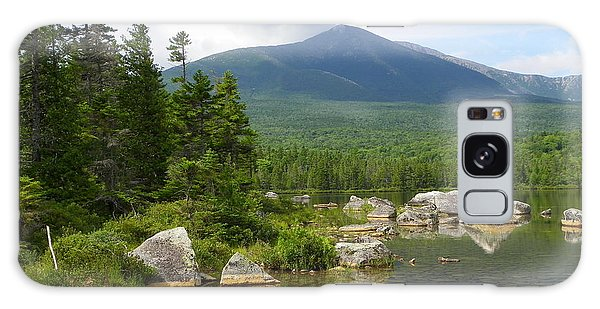 Katahdin Framed At Sandy Stream Pond Galaxy Case