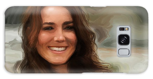 Galaxy Case featuring the painting Kate Middleton by Jennifer Hotai