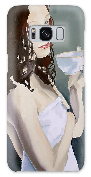 Katie - Morning Cup Of Tea Galaxy Case