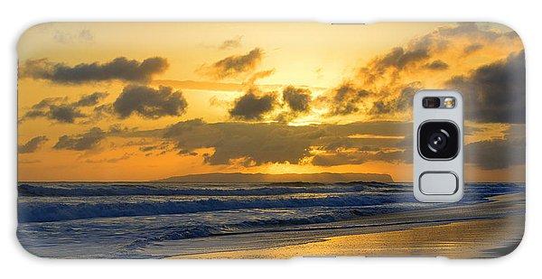 Kauai Sunset With Niihau On The Horizon Galaxy Case by Catherine Sherman