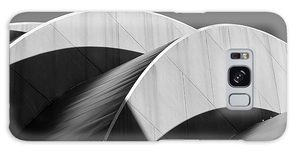 Kauffman Center Curves And Shadows Black And White Galaxy Case