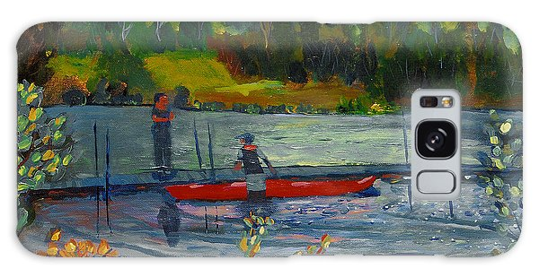 Kayak At Kittatinny Galaxy Case by Michael Daniels
