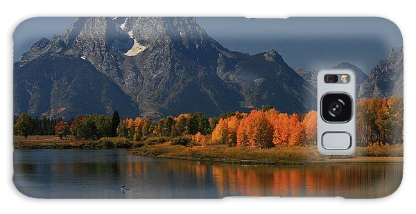 Kayak At Oxbow Bend Galaxy Case by Clare VanderVeen