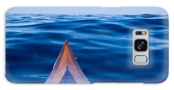 Kayak On Velvet Blue Galaxy Case by Michael Cinnamond