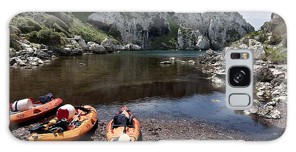 Kayak Time - The Landscape Of Cales Coves Menorca Is A Great Place For Peace And Sport Galaxy Case