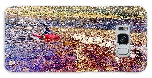 Kayaker Running A River Galaxy Case