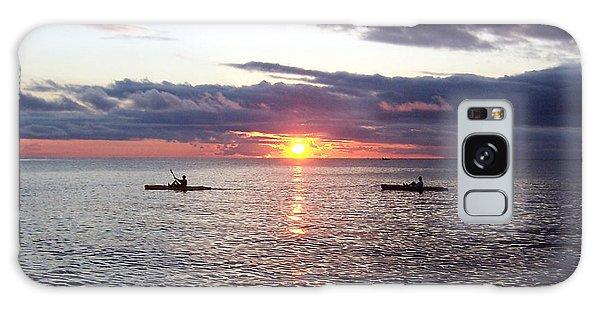 Kayaks At Sunset Galaxy Case