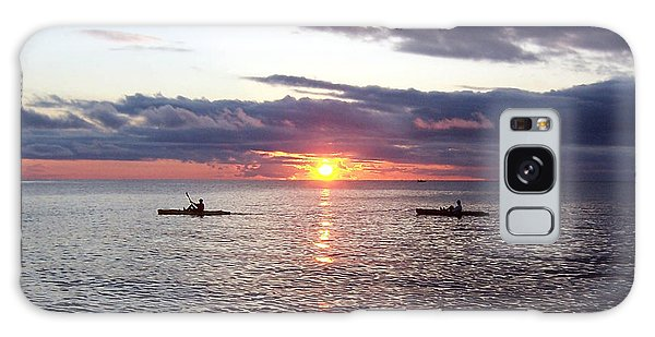 Kayaks At Sunset Galaxy Case