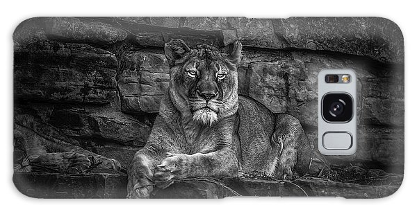 Galaxy Case featuring the photograph Keen Eyed Lioness by Donald Brown
