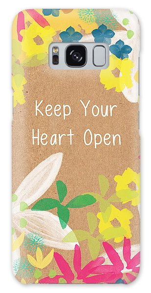 Tulip Galaxy S8 Case - Keep Your Heart Open by Linda Woods