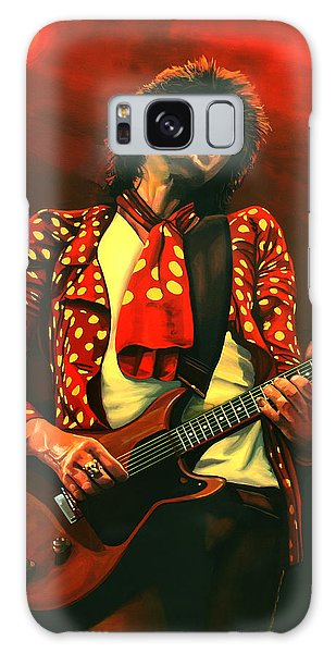 Rolling Stone Magazine Galaxy Case - Keith Richards Painting by Paul Meijering