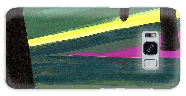 Fence Post Galaxy Case - Kensington Gardens Series Light In The Park Oil On Canvas by Izabella Godlewska de Aranda