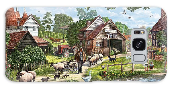 English Countryside Galaxy Case - Kentish Farmer by MGL Meiklejohn Graphics Licensing