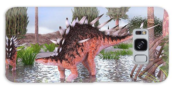 Kentrosaurus Pair In Water Galaxy Case