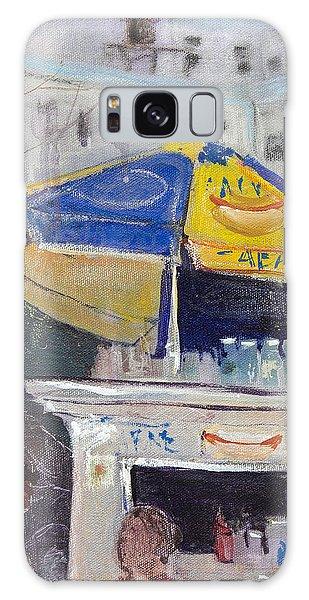 Ketchup Or Mustard Galaxy Case by Leela Payne