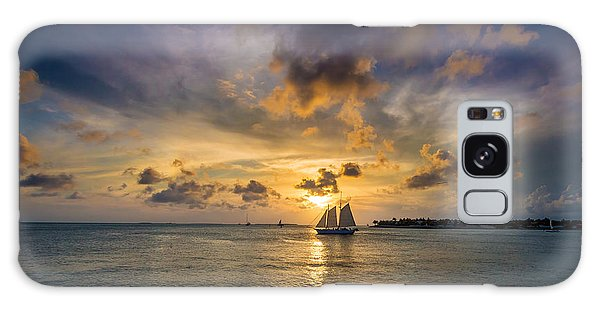 Key West Florida Sunset Mallory Square Galaxy Case