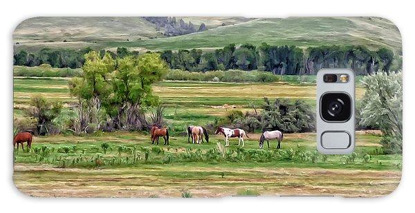 K G Ranch Galaxy Case by Michael Pickett