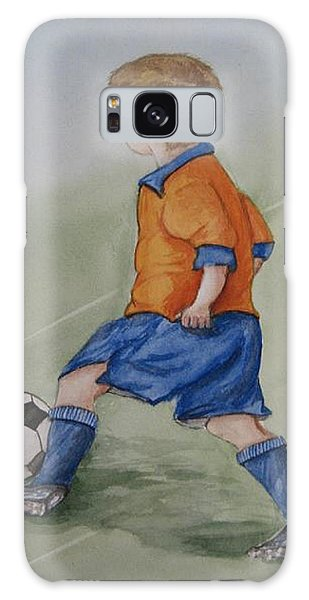 Kick N It ....boy And Soccer Galaxy Case
