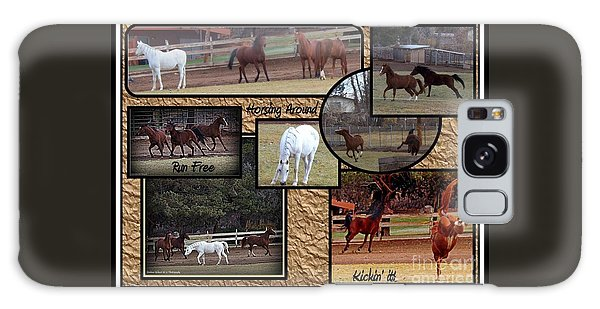 Horses Kickin It  Galaxy Case