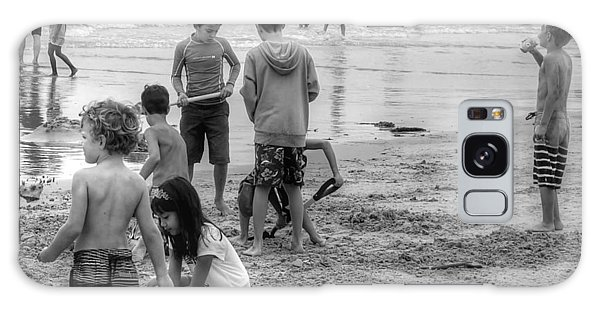 Kids At Beach Galaxy Case