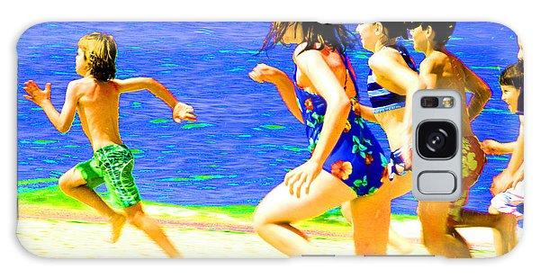 Galaxy Case - Kids On Beach by Frank Savarese