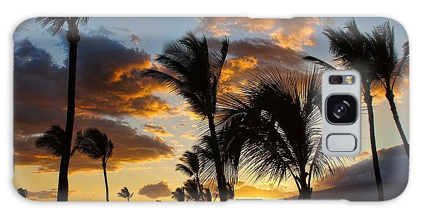 Kihei At Dusk Galaxy Case by Peggy Hughes