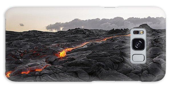 Kilauea Volcano 60 Foot Lava Flow - The Big Island Hawaii Galaxy Case