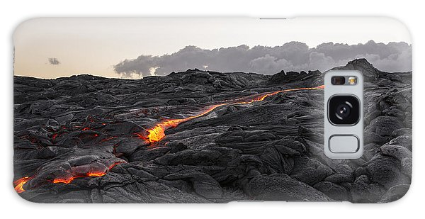 Kilauea Volcano 60 Foot Lava Flow - The Big Island Hawaii Galaxy Case