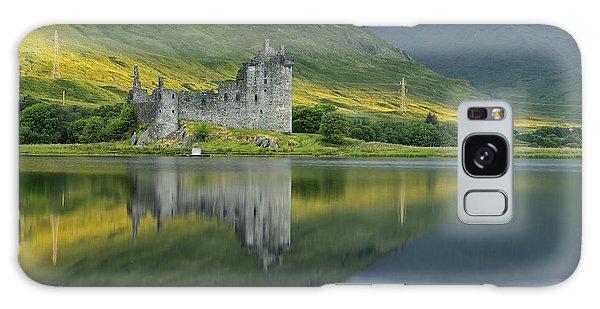 Kilchurn Castle At Sunrise Galaxy Case by Stephen Taylor