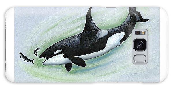 Killer Whale Feeding Galaxy Case