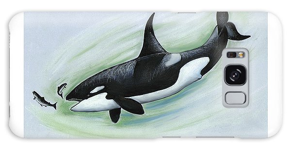 Killer Whale Feeding Galaxy Case
