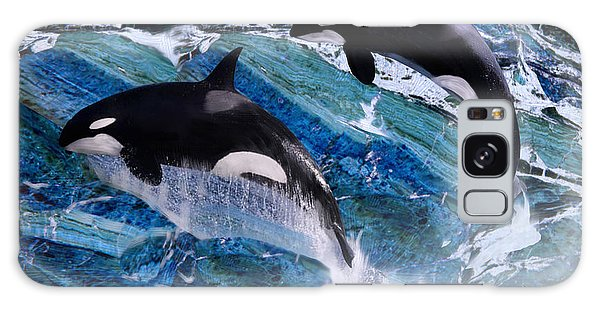 Wild Orca Whales Of Florida Galaxy Case