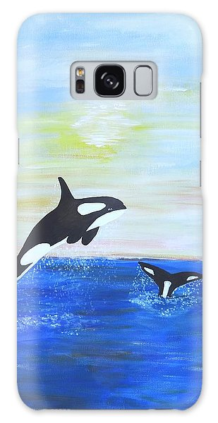 Killer Whales Leaping Galaxy Case