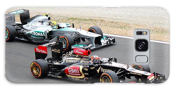 Kimi Raikkonen And Lewis Hamilton Galaxy Case by David Grant