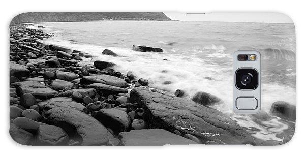 Kimmeridge Bay In Black And White Galaxy Case
