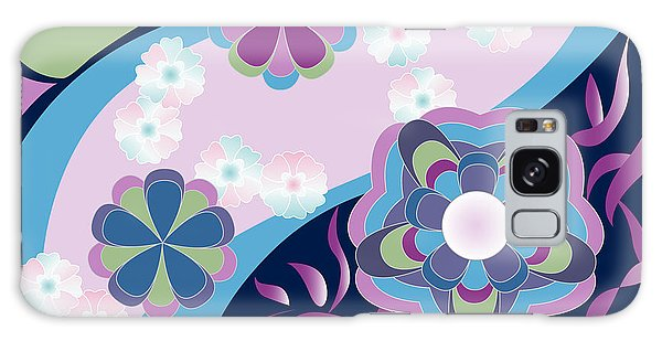 Kimono-inspired Summer Flowers By The River Galaxy Case