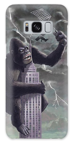 King Kong Plane Swatter Galaxy Case by Martin Davey