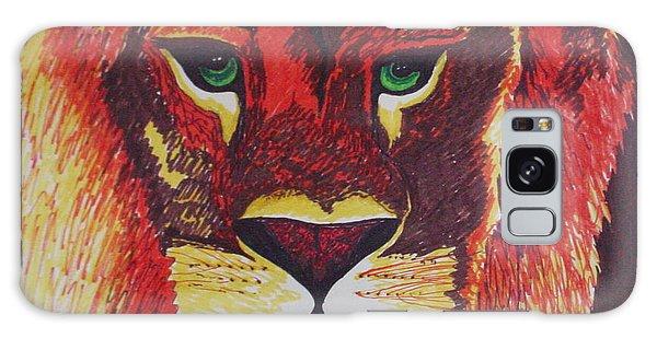 Lion In Orange Galaxy Case