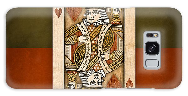 King Of Hearts In Wood Galaxy Case