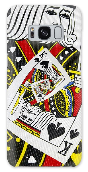 King Of Spades Collage Galaxy Case