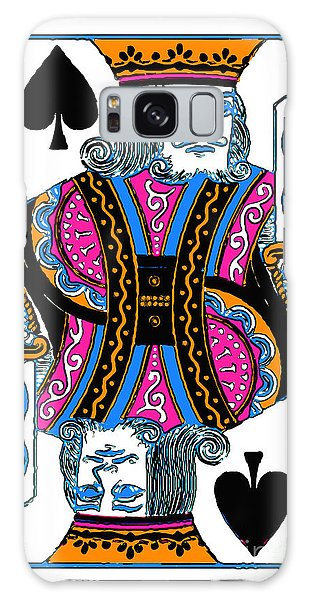 Galaxy Case featuring the photograph King Of Spades - V3 by Wingsdomain Art and Photography