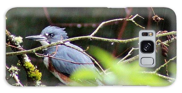Kingfisher In The Rain Galaxy Case