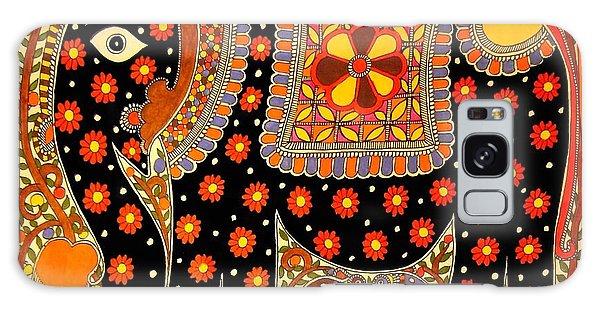 King's Elephant-madhubani Paintings Galaxy Case