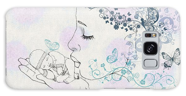 Kiss To A New Born Galaxy Case by Barbara Orenya
