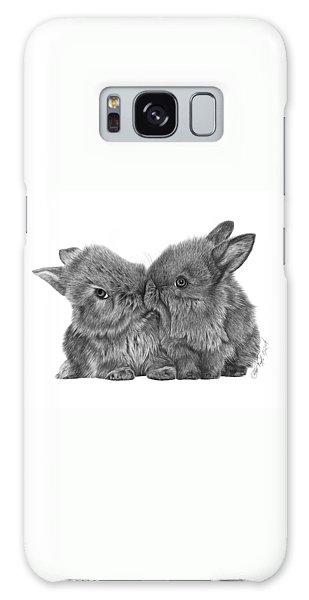 Kissing Bunnies - 035 Galaxy Case by Abbey Noelle