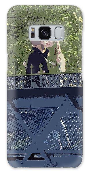Kissing On A Bridge Galaxy Case