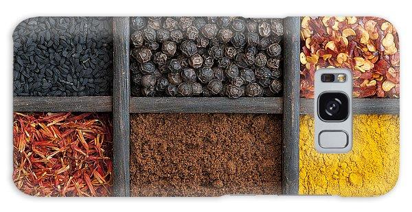 Indian Corn Galaxy Case - Kitchen Spices by Tim Gainey