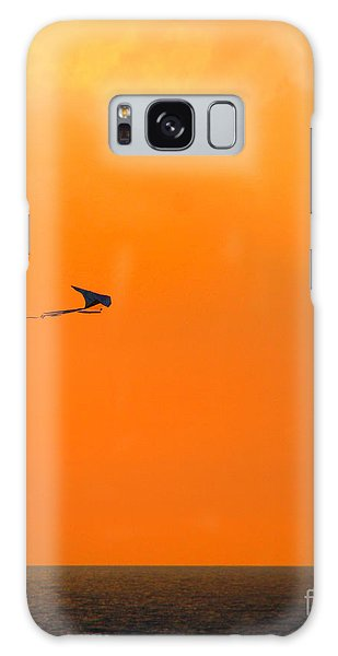 Kite-flying At Sunset Galaxy Case