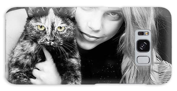 Galaxy Case featuring the photograph Kitten Eyes by Stwayne Keubrick